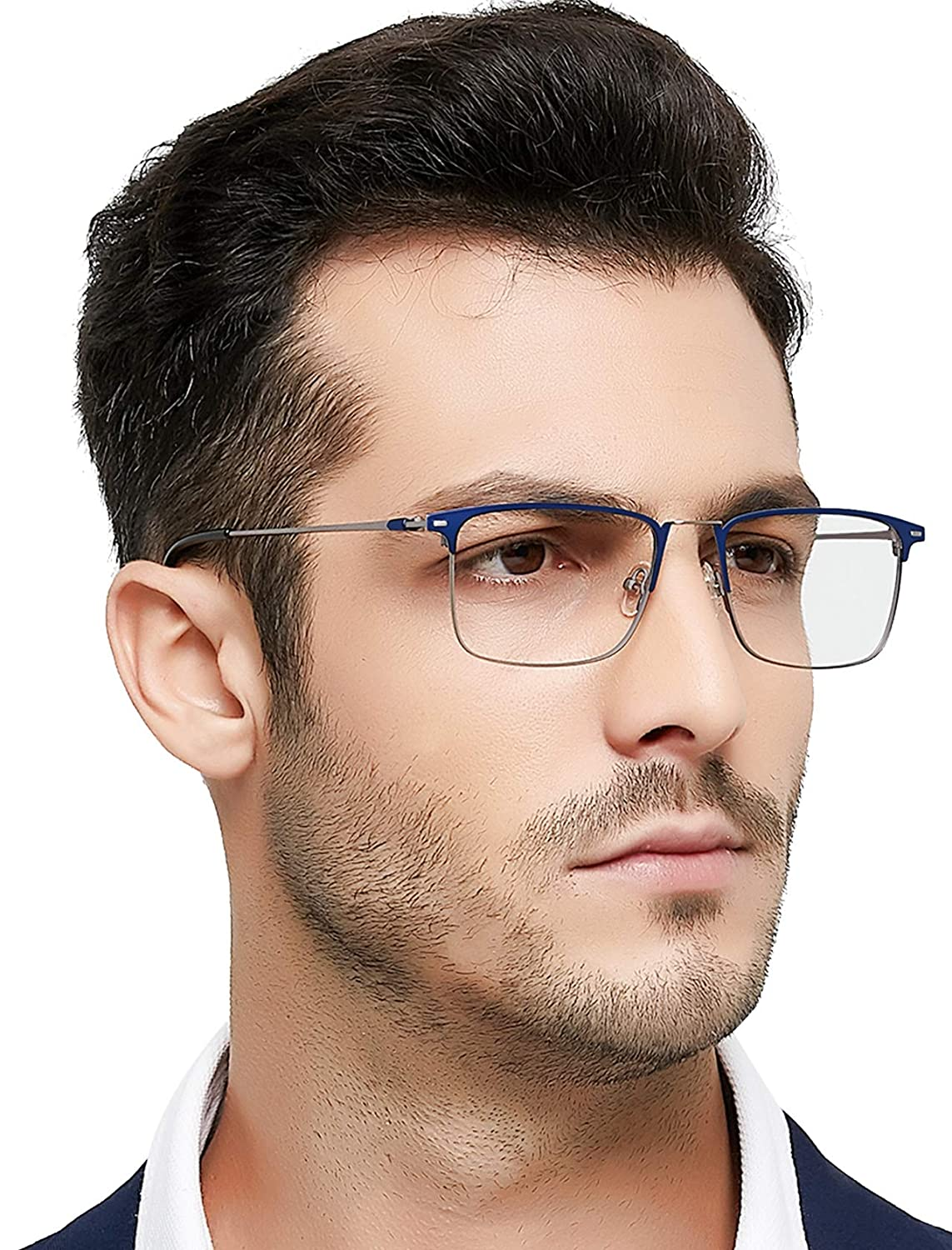 f8e40086fc14 OCCI CHIARI Men Fashion Metal Full-Rim Optical Eyewear Frames With ...