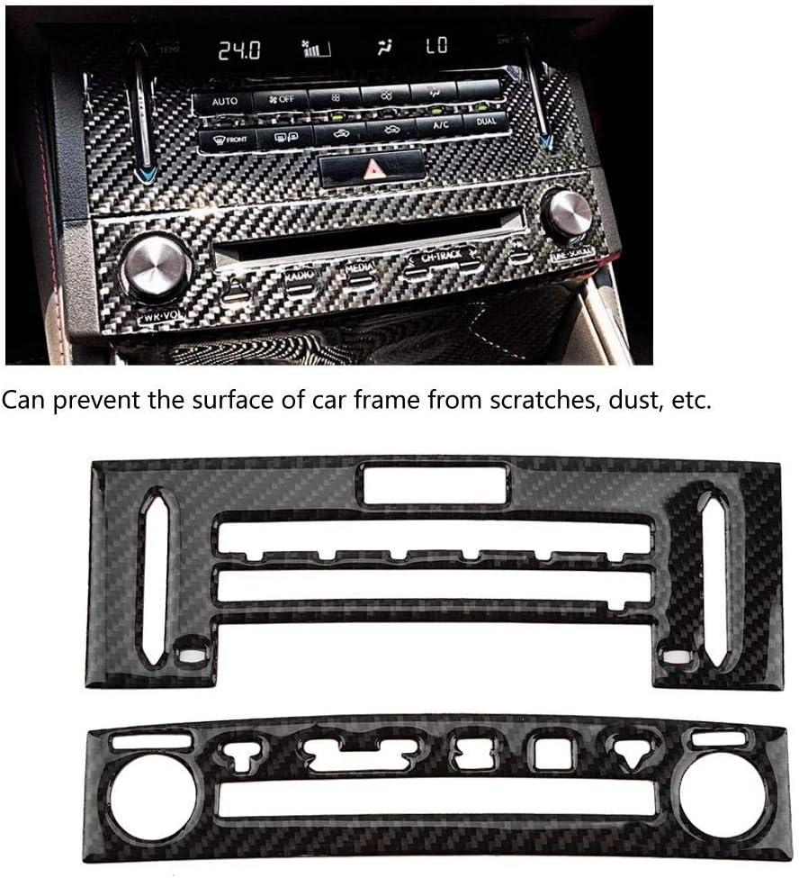 Carbon Fiber Center Console CD Panel Trim Car Accessory for LEXUS IS250//300//350//200 14-18 Interior Decoration Car Console Panel Trim