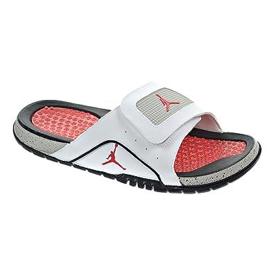 632219e95b4a4 Jordan Hydro IV Retro Men s Sandals White Fire Red Tech Grey 532225 ...