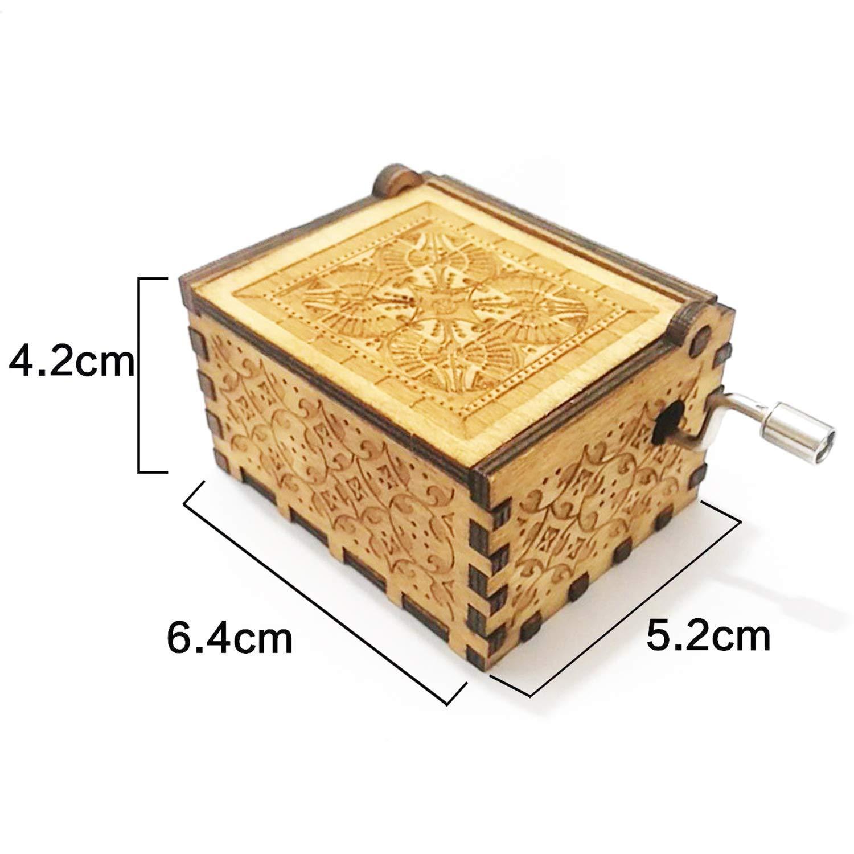 Evelure Carillon di Legno Tema di Queen Scatole Musicali in Legno Intagliate a Mano e Intagliate a Mano Creativi I Migliori Regali A-Wood
