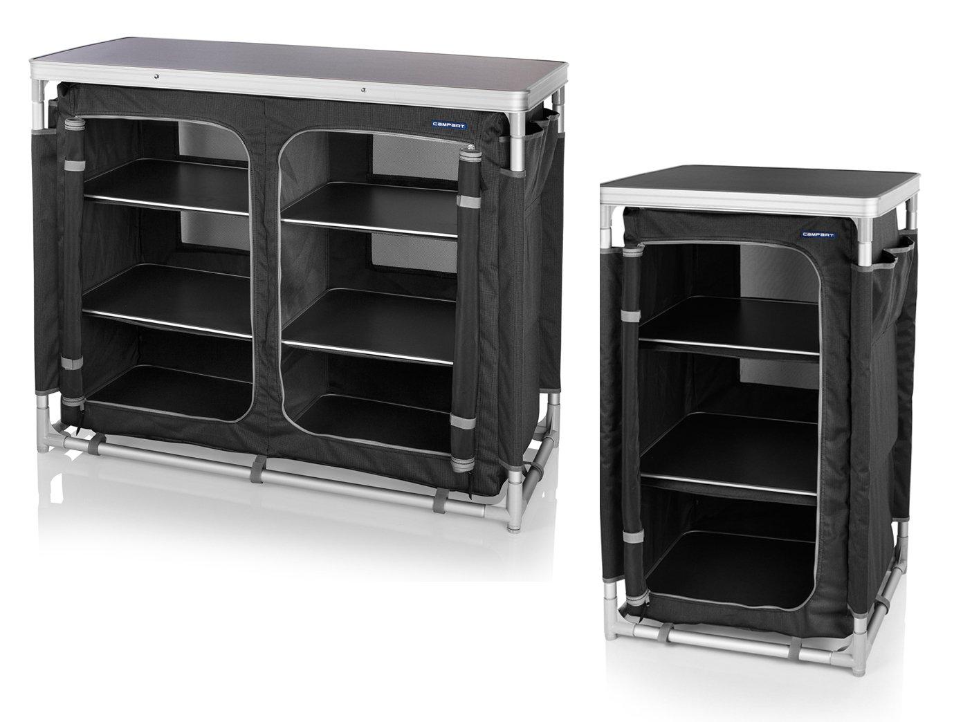 2er Set robuster stabiler Campingschrank faltbar Outdoor Küchenschrank Kleiderschrank