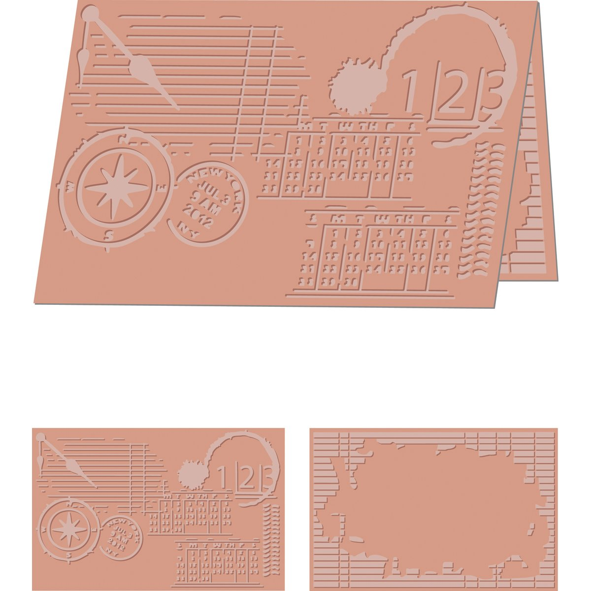 Craftwell USA EF-PER-LTR Perseverance Embossing Folder, 8.5 by 11-Inch