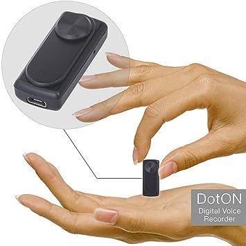 Mini grabadora de voz - 90 horas de capacidad con memoria de 8GB - 20 horas de duración de la batería - Sensor de activación de voz – registrador ...