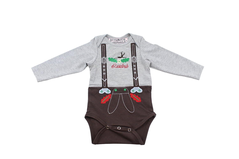 Anouk et Emile Baby Body im Lederhose Trachten Look - Trachtenhose für Babys Gr. 62-86