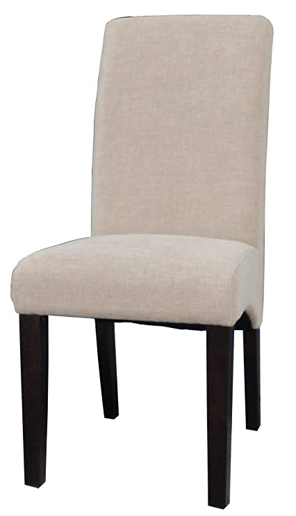 Chintaly Imports Marcella Parson Fabric Arch Base Side Chairs, 18.12 By  16.93 By 39.25