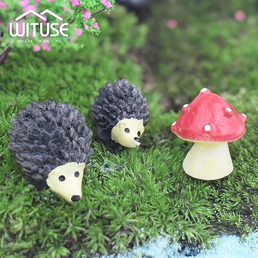 Set de 3 figuras decorativas de jardín de hadas con diseño de césped, 5: Amazon.es: Jardín