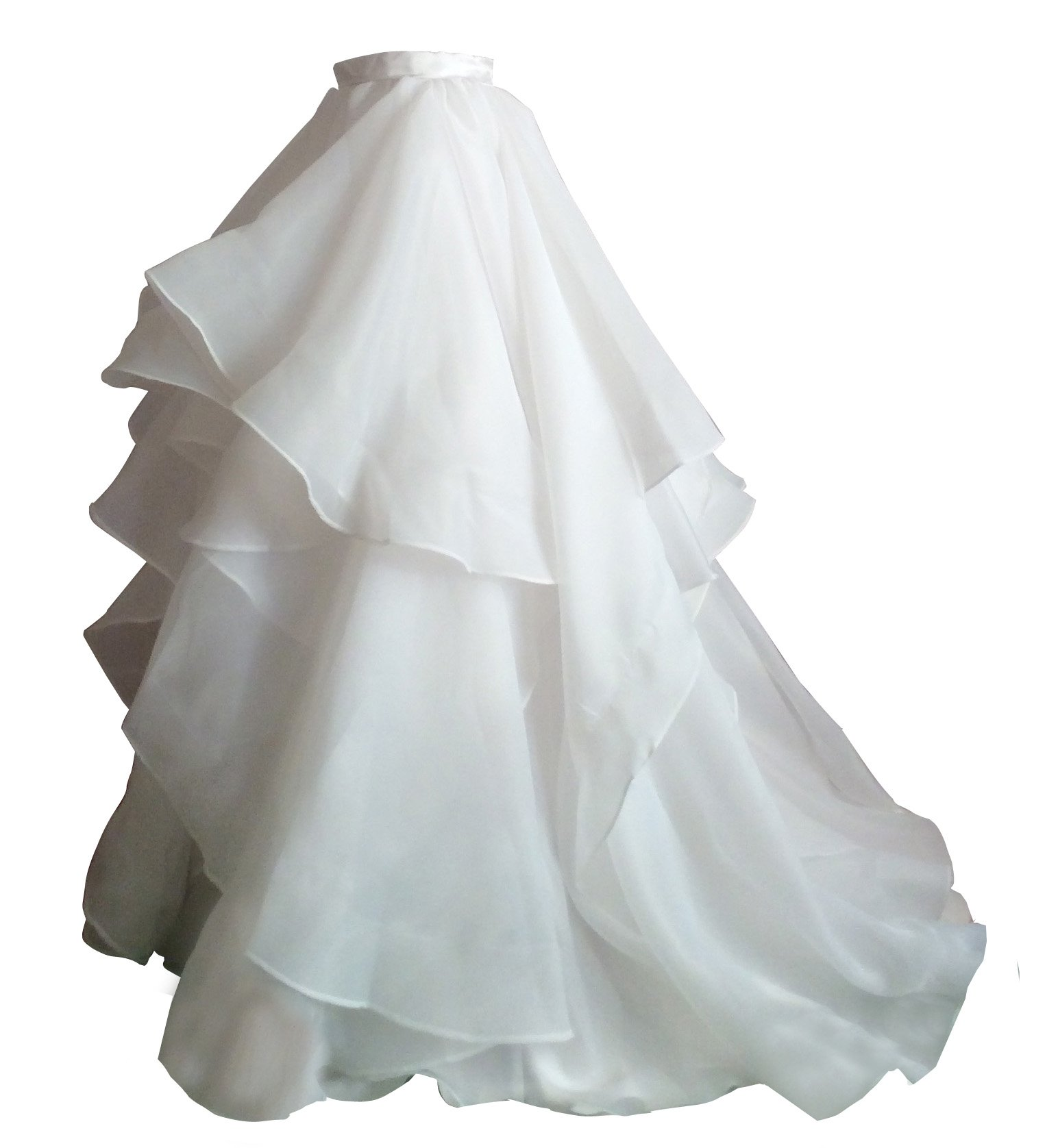 Flowerry Women Organza Skirt Bridesmaid Formal Skirt Prom Wedding Party Bridal Skirt XL white by flowerry
