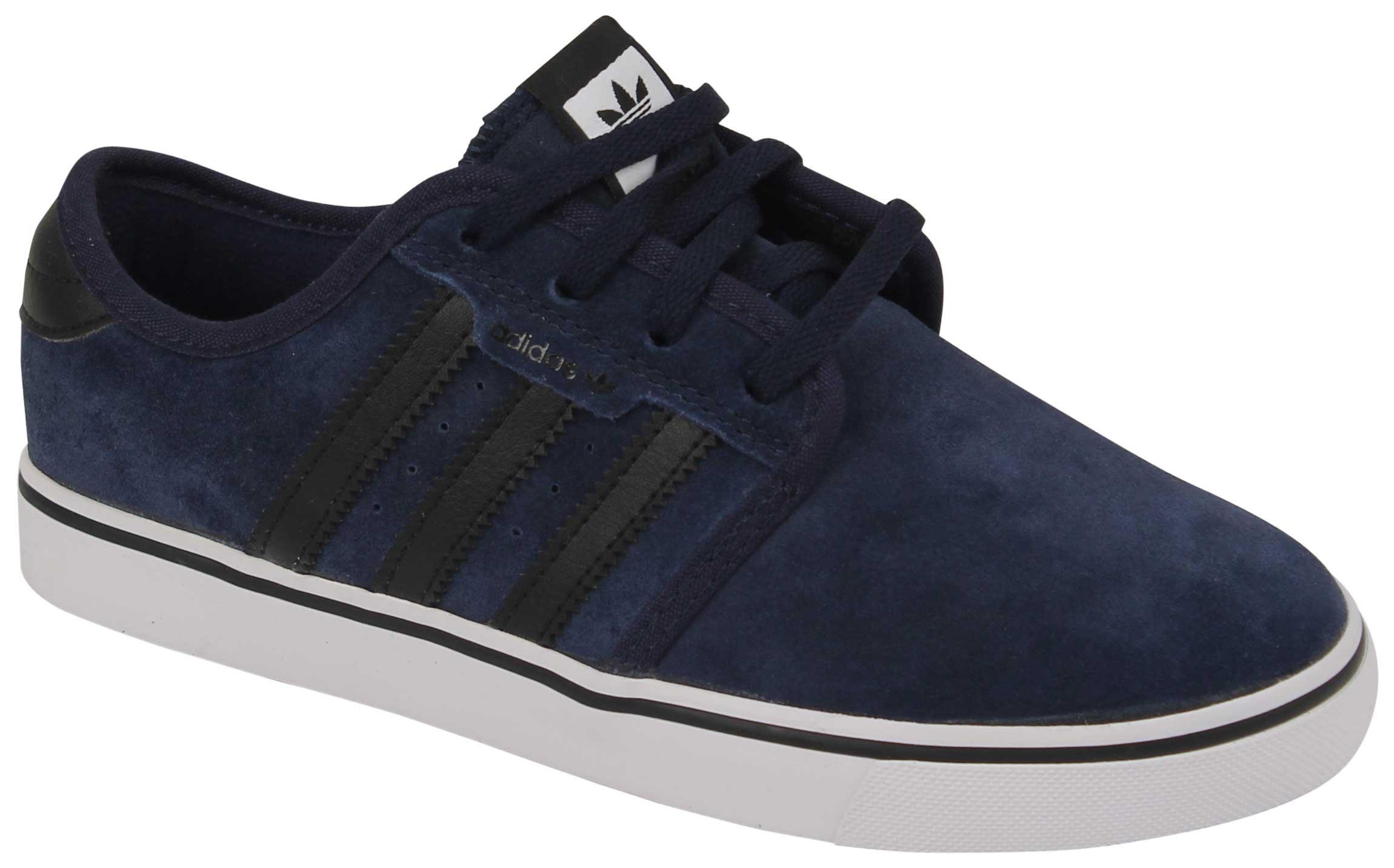 adidas Originals Boys' Seeley J-K Running Shoe, Collegiate Navy/Black/White, 13 M US Little Kid