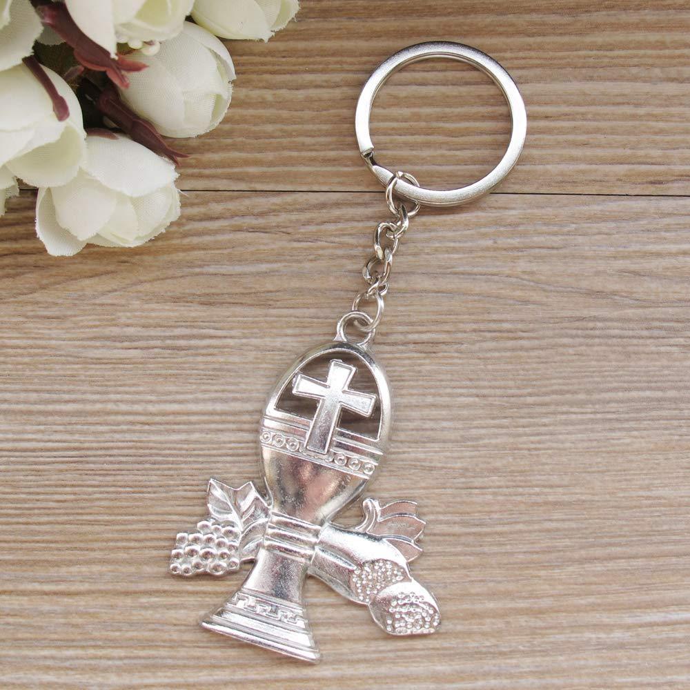 First Communion Keychain (12PCS) Favors for Guests/Recuerdos de Primera Comunion Niña Niño