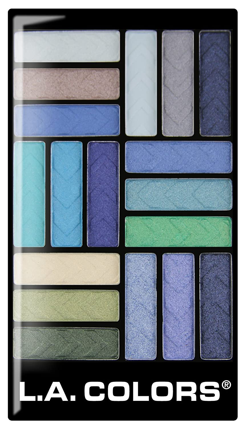 L.A. Colors 18 Color Eyeshadow Palette, Shady Lady, 0.70 Ounce
