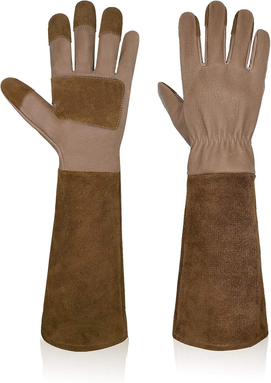 Garden Gloves Women & Men,Rose Pruning Gloves Long Sleeve Rose Gardening Gloves Thorn Proof Gloves