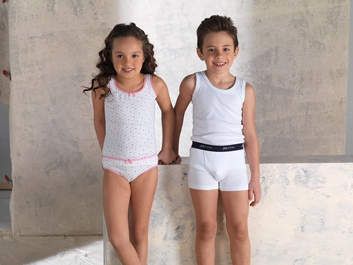 Brix Boys Cotton Tank Top Tagless Undershirts Super Soft 4-Pack Tees Sizes 2-14.