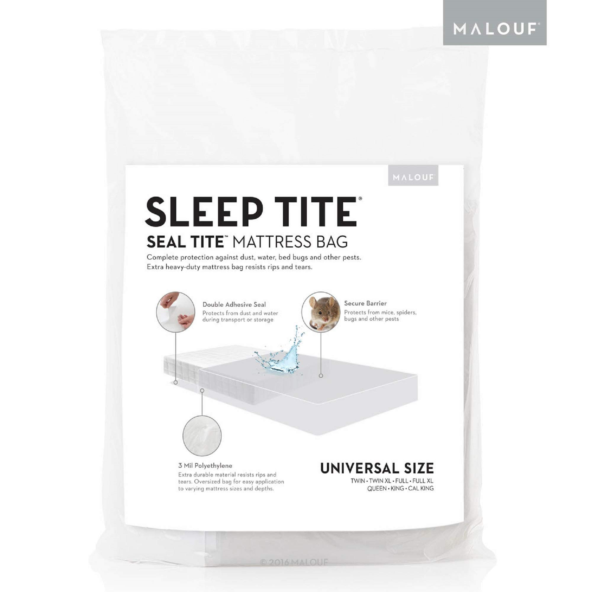 Storage or Disposal King and Cal King Size Heavy Duty Triple Thick 6 Mil Tear and Puncture Resistant Bag with Two Extra Wide Adhesive Strips UltraBlock Mattress Bag for Moving
