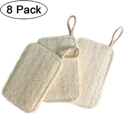 8 Piezas Esponja Natural para Lavar Platos, Loofah Esponja para ...