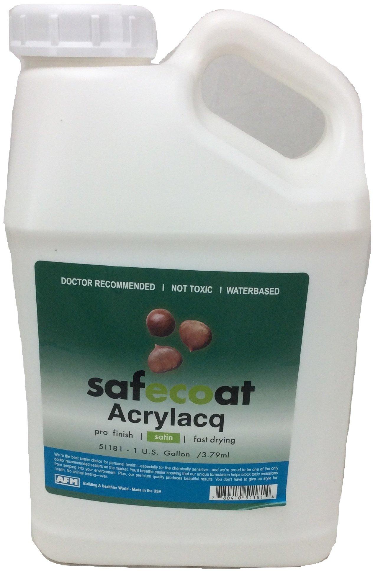 AFM Safecoat Acrylacq Waterbased Satin Lacquer Finish - Gallon