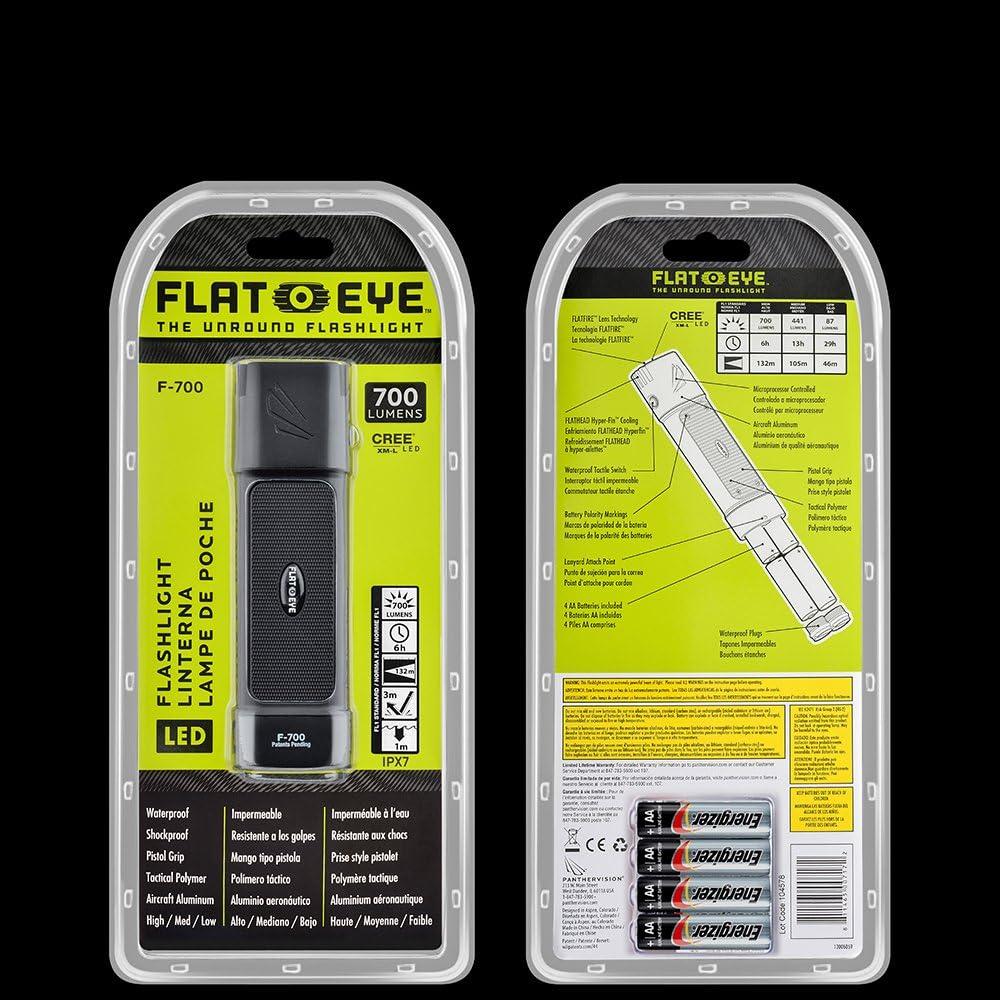 FL-7189 1000 Lumens FLATEYE F-1000 High Performance UNROUND Flashlight CREE LED Multi Position Waterproof /& Shockproof