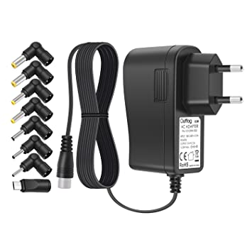 Outtag Cargador Universal 5V 2.5A Cable de alimentación 2500ma AC Adaptador de viaje pared 8 conectors Micro usb para Tablet Android Smart phone MP3 ...