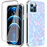 """COANJIUO Compatible with iPhone 12/12 Pro 6.1"""" Case, 360°Full Body Protective Shockproof TPU Bumper Women Colorful Phone Armo"""