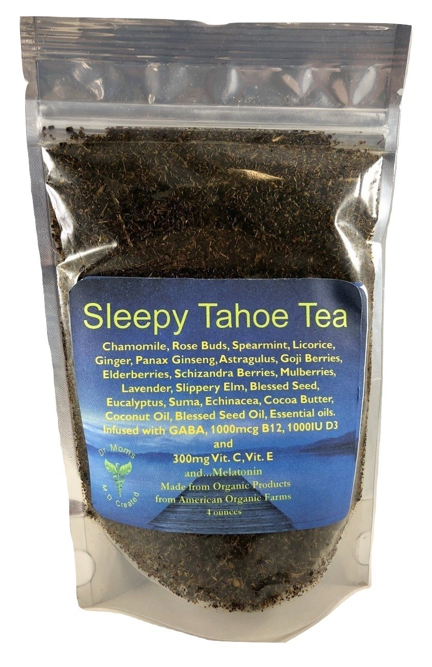 Dr Moms Supplement Tea - Formulated for Sleep! LOADED with Vitamins! B12, C, E, D3, GABA, Omega 3s, superfoods, MELATONIN, and more! Organic. Calming Tea.