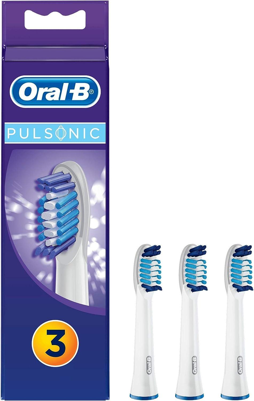 Oral-B Pulsonic - Pack de 3 cabezales de recambio para cepillo de dientes recargable: Amazon.es: Salud y cuidado personal