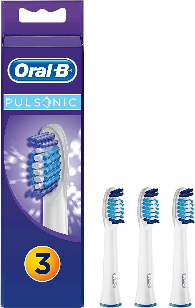 Oral-B - Pack de 4 cabezales para cepillos de dientes recargables - Pulsonic: Amazon.es: Salud y cuidado personal