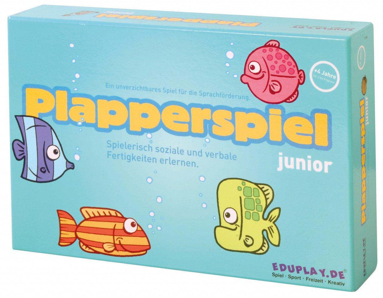 Plapperspiel / Puzzle-Spielbrett mit vielen bunten Fischen / Spiel zur Sprachförderung / für 2 - 8 Spieler von 4 bis 6 Jahren