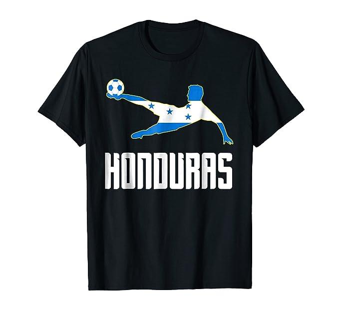 Mens Camiseta Futbol de Honduras - Honduran Soccer T-Shirt 2XL Black