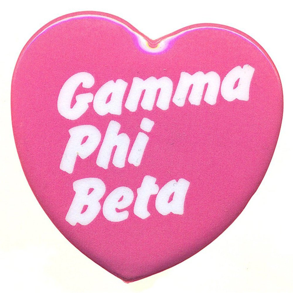 Amazon com: Gamma Phi Beta Heart Shaped Button: Clothing