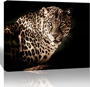The Melody Art Natural Giclee Landscape Canvas Wall Art Wildlife Leopard Picture Print in Canvas Stretched and Framed for Home Decor 12x16 1/pcs