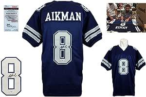 Troy Aikman Signed Custom Jersey - JSA Witnessed - Autographed - Navy TB