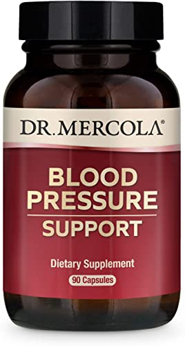 Dr. Mercola Blood Pressure Support, 90 Servings 90 Capsules 300 mg Grape Seed Extract with Antioxidants, Helps Promote Healthy Blood Pressure Already in Normal Range*, non GMO, Soy Free, Gluten Free