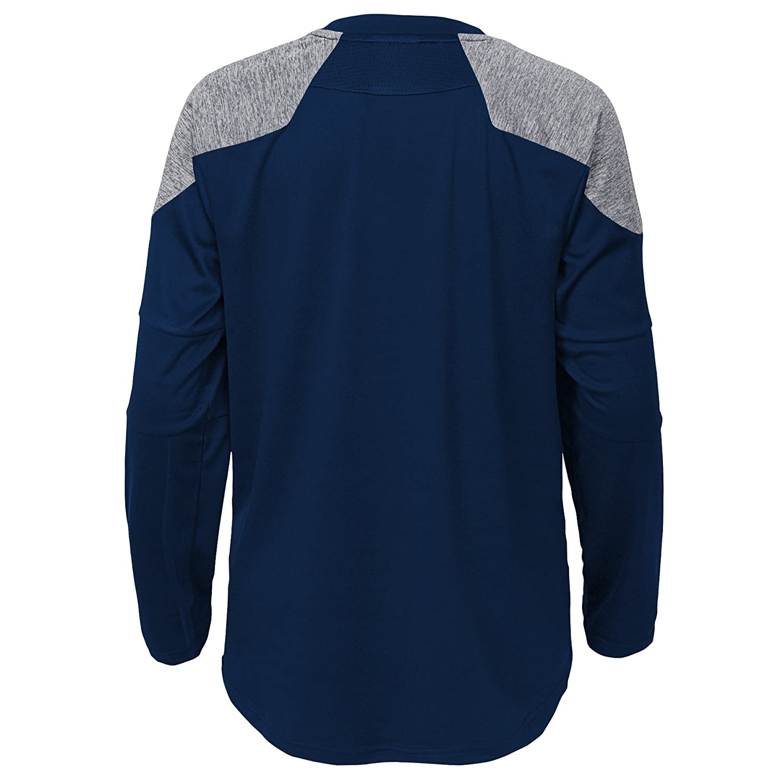 7 Outerstuff NFL Boys 4-7Gamma Long Sleeve Performance Tee-Dark Navy-L Denver Broncos