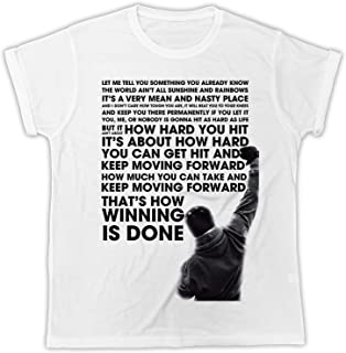2dee3a79 Cool Funny Rocky Balboa Quotes Movie Poster Cool Tshirt Poster Ideal Gift  Birthday Present Unisex Mens