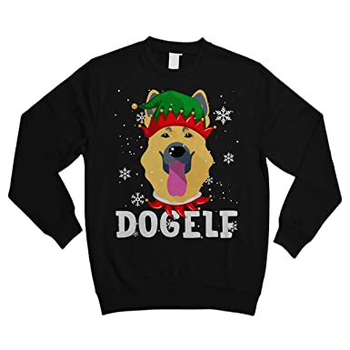 German Shepherd Christmas Sweater.Teekihy Dogelf German Shepherd Dog Funny Shirt Ugly