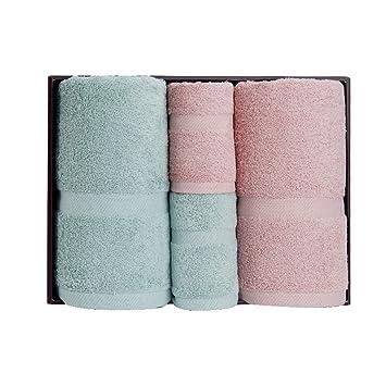 Cuidado facil Toalla de baño de toalla de cuatro toallas de regalo de cuatro conjuntos de ...