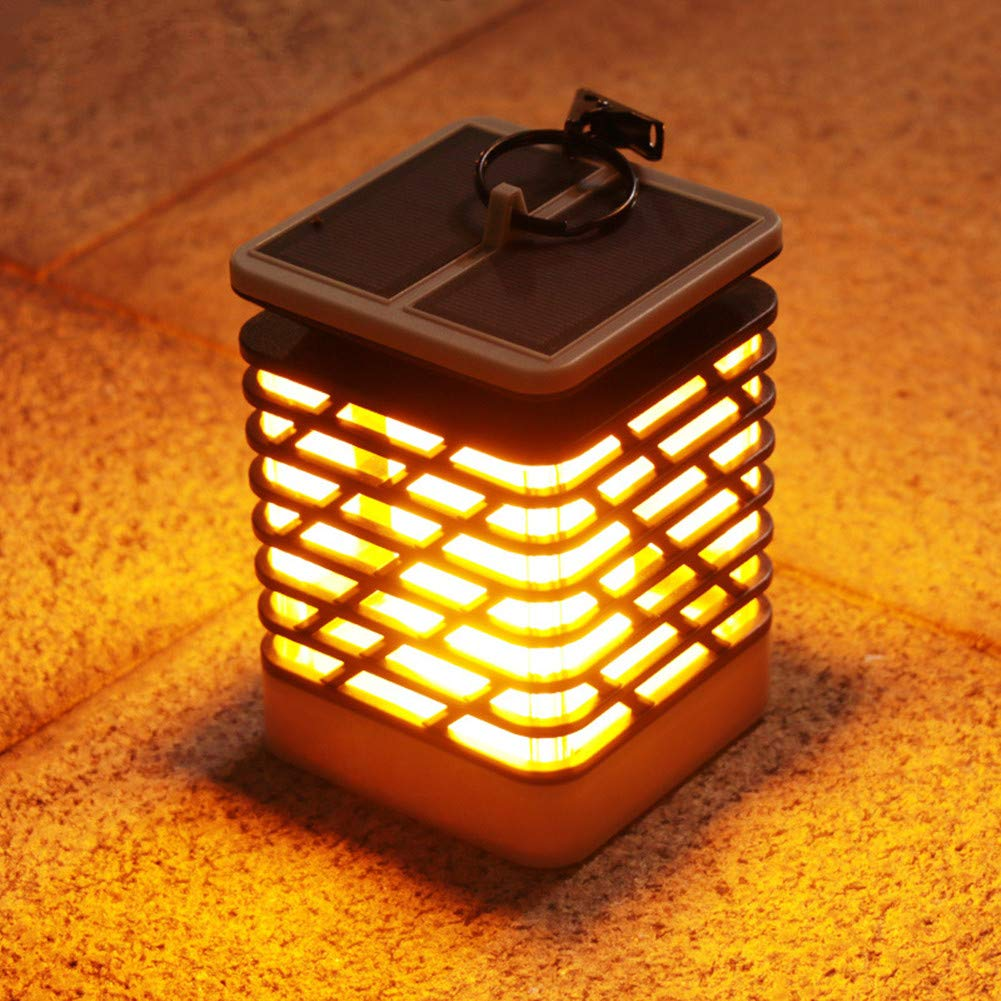 scelte con prezzo basso Luce Solare da Giardino,Lanterna all'aperto Impermeabile Luminosa del Giardino di di di sfarfallio del LED di Fiamma della Fiamma fiammeggiante per Il Patio del Percorso del Giardino della Barra,1PACK  clienti prima reputazione prima