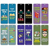 Creanoso Silly Hilarious Literary Bookmarks (60-Pack) – Insanely Funny and Inspiring Bookmarker Cards - Excellent School Teacher Classroom Rewards for Young Readers - Incentive Gifts for Bibliophiles