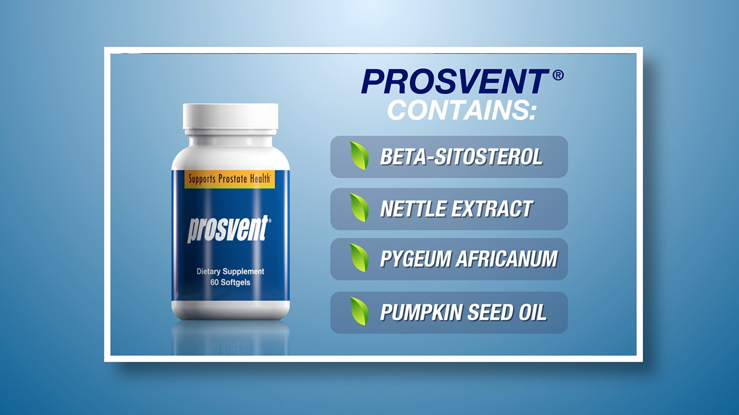 PROSVENT-NATURAL PROSTATE HEALTH SUPPLEMENT -Clinically Tested Ingredients- Reduce Urgency & Frequency. Improve Flow, Sleep, Health & Quality Of Life. OVER 180 MILLION DOSES SOLD! –3 Month Supply by Prosvent (Image #4)