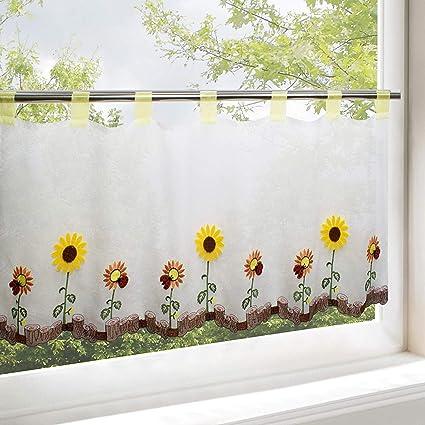 Tendina a soli fiori per cucina e soggiorno/autunno Tenda con stampa ...