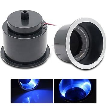MASO - Soporte para Vasos de Coche (LED, 12 V, 2 Unidades), Color Azul: Amazon.es: Coche y moto