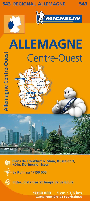 Carte Allemagne Ouest.Amazon Fr Carte Allemagne Centre Ouest Michelin