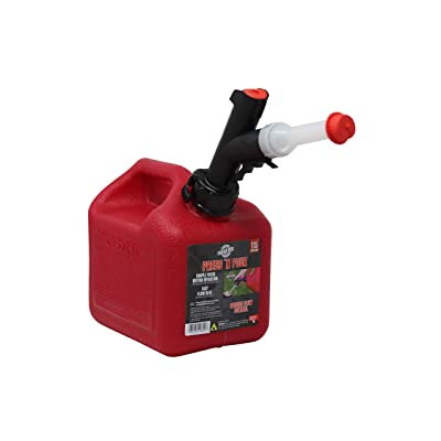 GARAGE BOSS GB310 Briggs and Stratton Press 'N Pour Gas Can, 1+ Gallon, Red: Automotive