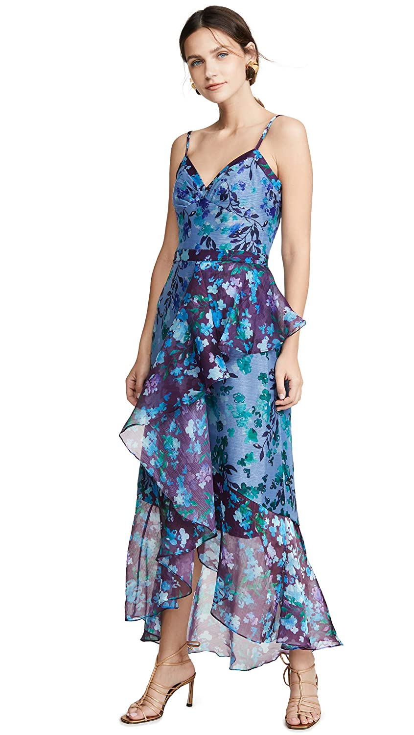 b513c5b2 Marchesa Notte Women's Sleeveless Colorblock High Low Gown at Amazon  Women's Clothing store:
