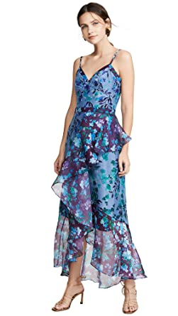 e7a4ba88 Marchesa Notte Women's Sleeveless Colorblock High Low Gown at Amazon ...
