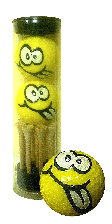 GBM Golf Smiley Novelty 2 Ball Tube, Goofy [並行輸入品] B072JRR5TG