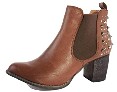 dfd9768886f WOMENS LADIES CUBAN WESTERN MID HIGH HEEL BOOTIES HEELED BLOCK COWBOY  WINTER ANKLE BOOTS SIZE 3-8