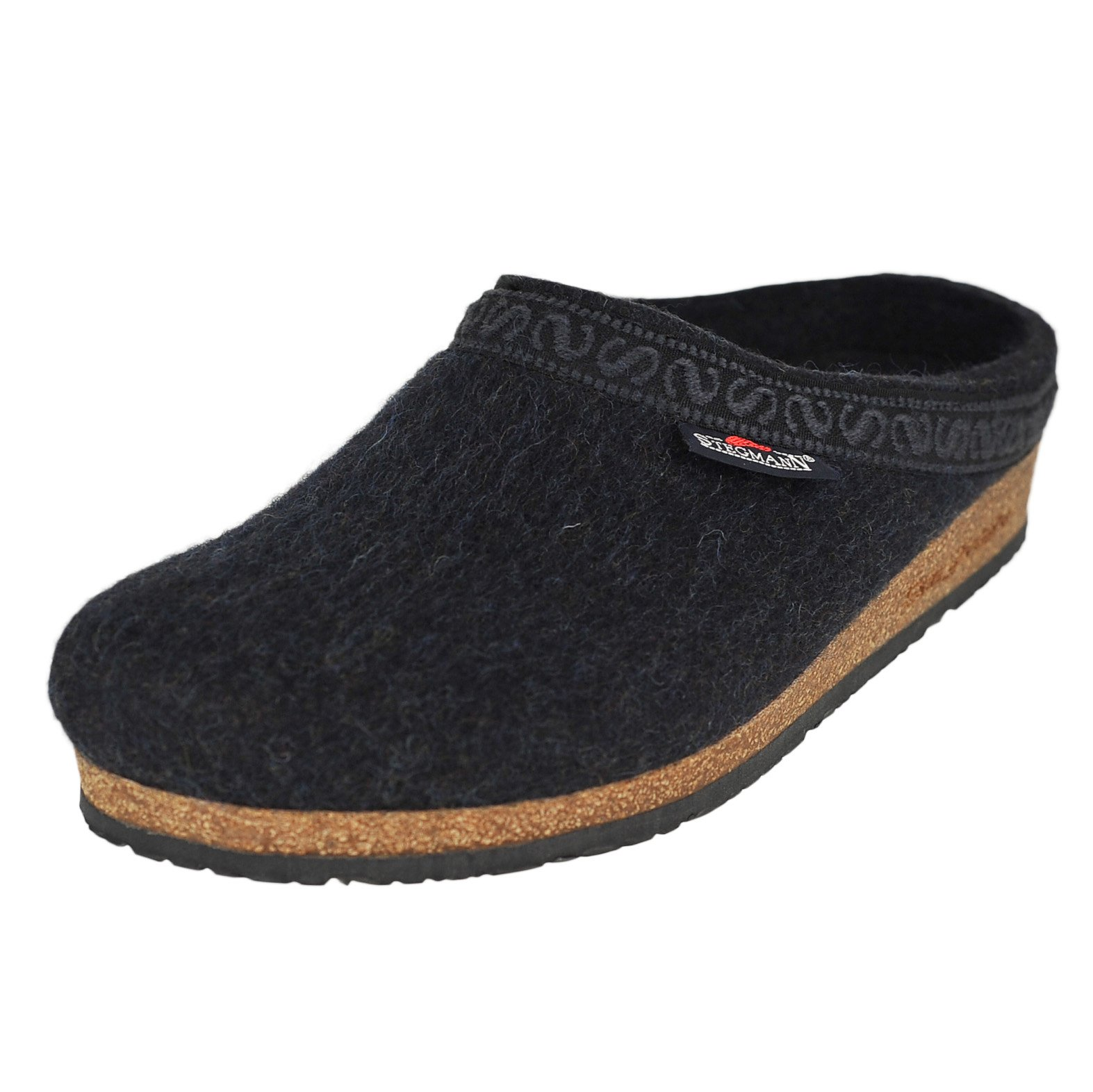 Stegmann New Men's Wool Felt Cork Clog Graphite 10