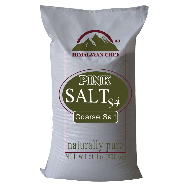 Himalayan Chef Pink Himalayan Salt - 50 lb. Coarse Grain Bulk Bag