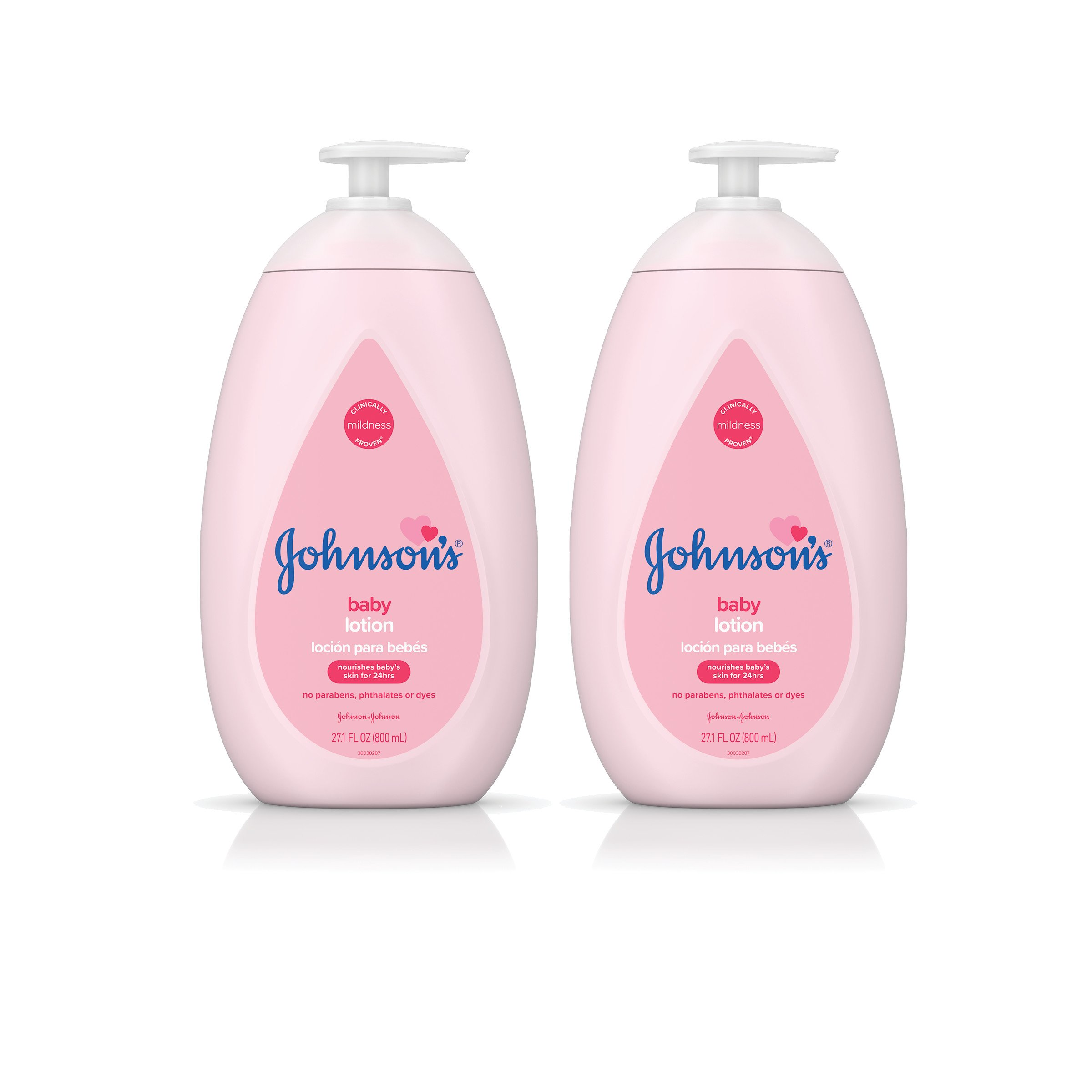 Johnson's Moisturizing Pink Baby Lotion with Coconut Oil, Hypoallergenic, 2 x 27.1 fl. oz by Johnson's Baby