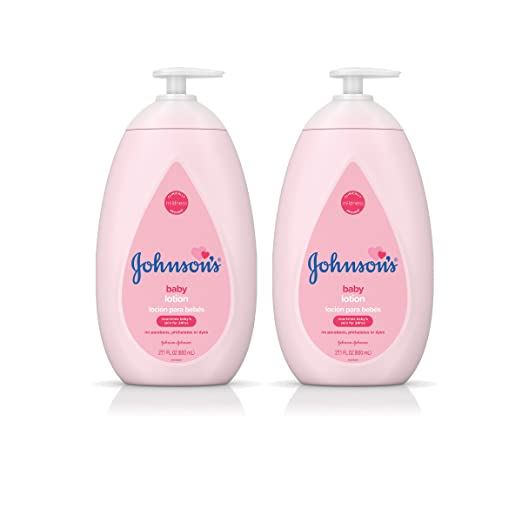 Johnson's Moisturizing Pink Baby Lotion with Coconut Oil, Hypoallergenic
